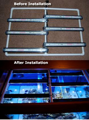 LED Strip Tank Top Mounting using PVC Pipe