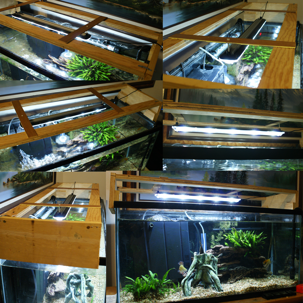 aquarium led light installation options ventilation bio cube led strip tank top mounting