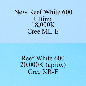 AquaBeam 600 XR-E Reef White versus Ultima ML-E