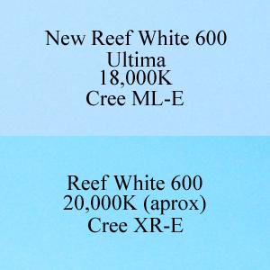 AquaBeam 600 XR-E Reef White versus Ultima ML-E